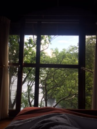 Secret Bay: View from the bed in Ti Fey