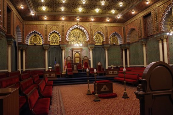 Masonic Temple : Meeting room.