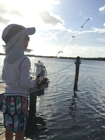 كوكونت بالم إن: Fishing time with our grandson