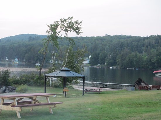 Canaan, VT: Beach area with bonfire pit on the right