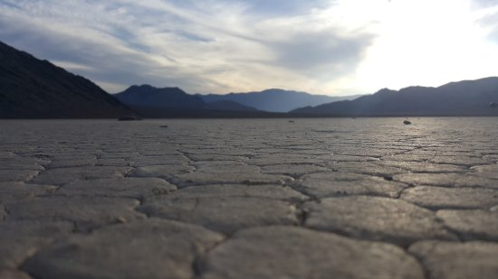 The Racetrack: Getting up close and personal with the dry lake bed.