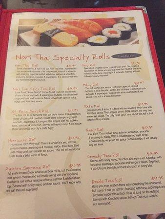 Nori Thai Restaurant St Pete Beach Fl