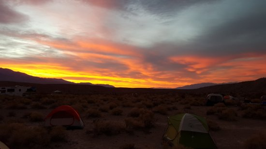 Mesquite Springs Campground: Sunrise in the campground.