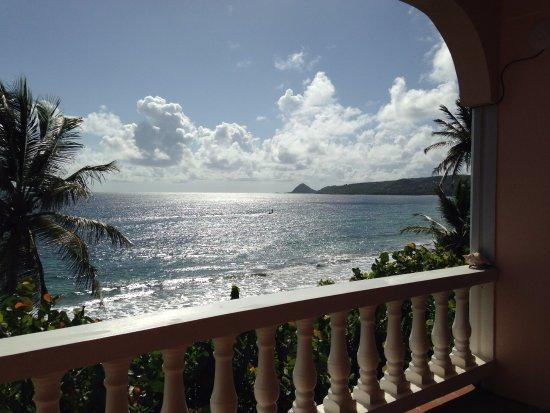 Petite Anse Beachfront Hotel & Restaurant Grenada: Looking off the private balcony of Nutmeg room