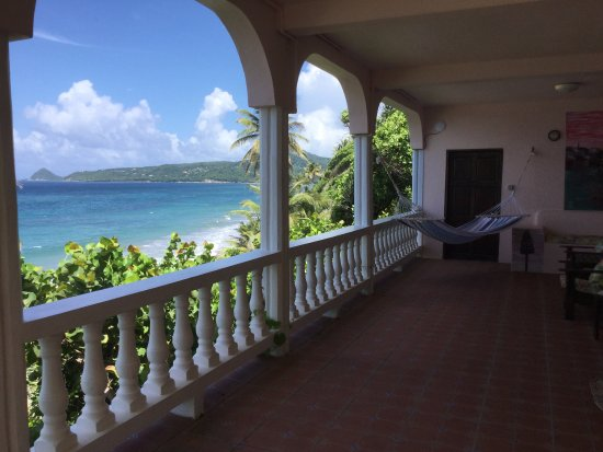 Petite Anse Beachfront Hotel & Restaurant Grenada: Veranda of Nutmeg - SO awesome!!!