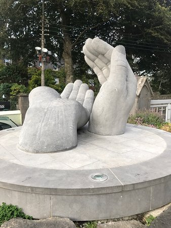 Hands as sculpted by Shane Gilmore  On the grounds of the Cathedral of Sts Peter and Paul, Ennis