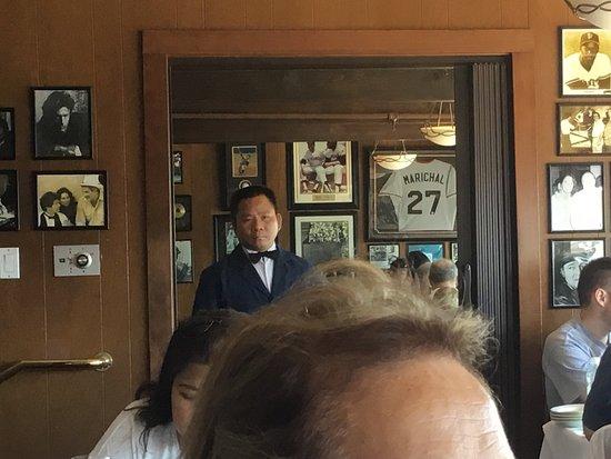Scoma's: Juan Marachal jersey in background.