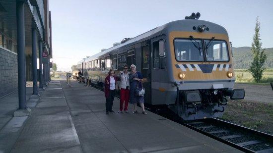 Train de Charlevoix: Départ de l'Hotel Le Germain à Baie-St-Paul