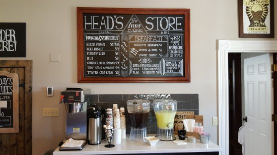 Saint Albans, MO: Menu inside the store