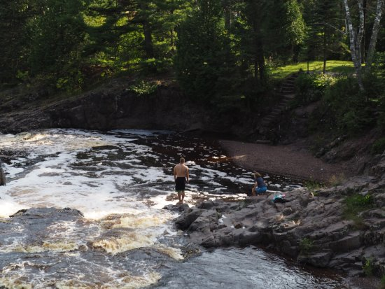 Lester Park: Going for a swim in the frigid waters