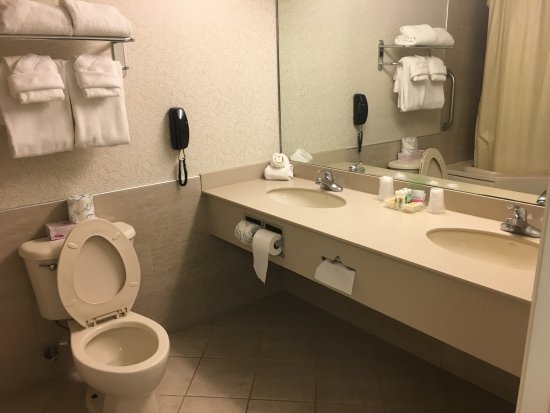 Holiday Inn Hotel & Suites Ocean City: Spacious but basic. Only shower, no bathtub faucet