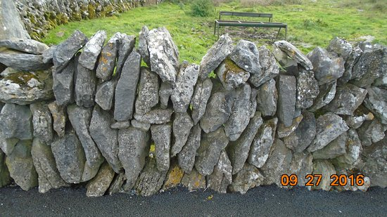 "Caherconnell, Ireland: ""Dry"" (not mortared) stone wall"