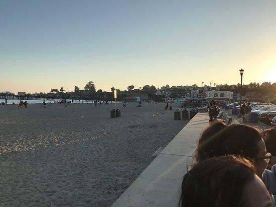 Capitola City Beach: Capitola Beach at sunset