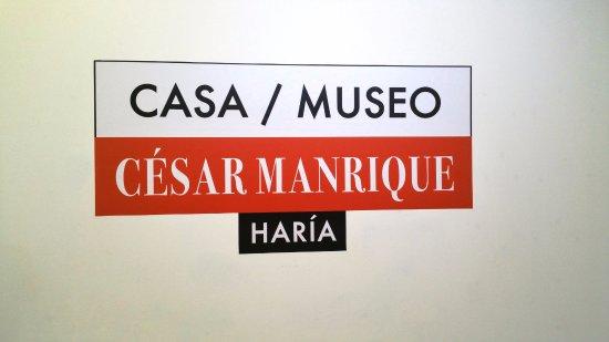 Casa / Museo Cesar Manrique: Cartello all'ingresso....