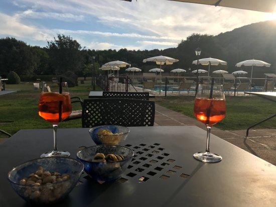 Hotel Casolare le Terre Rosse: Sundown