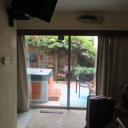 """Ann Arbor Bed & Breakfast: Door to private deck in """"Ocean View"""""""