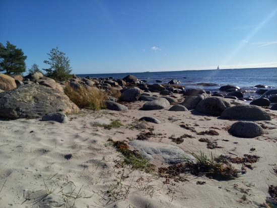 It's very small sea shore and island is great place, Storsand, Nattaro island, sweden
