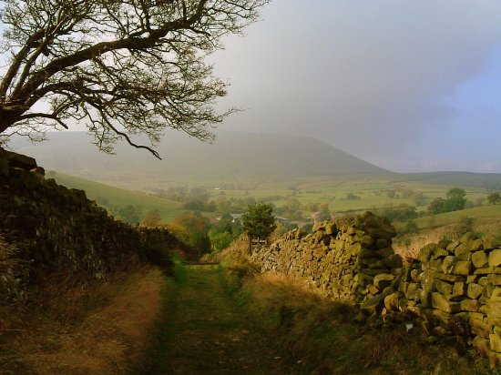 Heys Lane Packhorse route, Barley and Pendle Hill