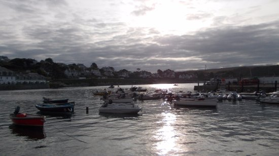 St Mawes, UK: View of sunrise from outside the hotel