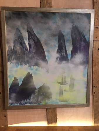 Presteigne, UK: One of Nolan's paintings on exhibition in the gallery.