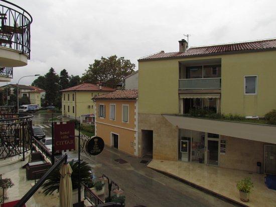 Hotel Villa Cittar: vue du balcon de la chambre
