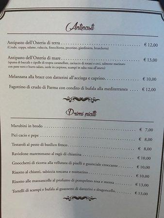 Il menù. Fabio Cremona ( il presidente)