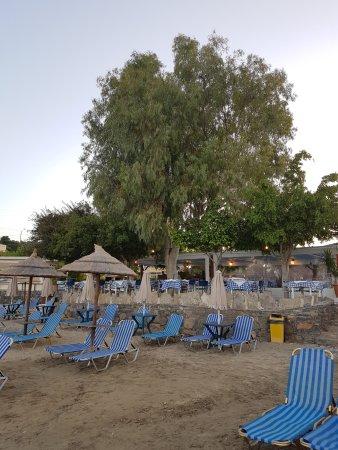Ammoudara Beach Hotel : Der Hoteleigene Strandbereich mit dazugehöriger Taverne