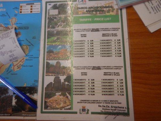 Kort Over Steder Pa Sardinien Med Nuragher Picture Of Nuraghe La