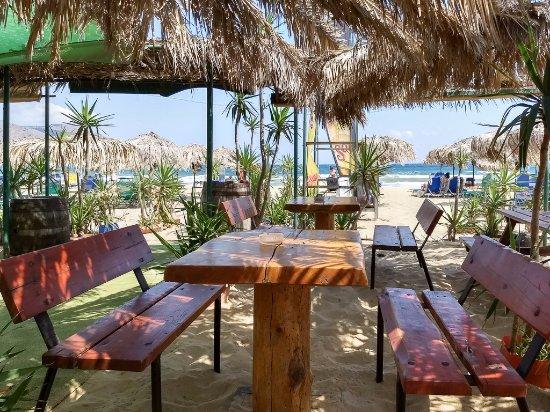 """Sun Kiss Beach Bar: Inside the """"Restaurant"""" area"""