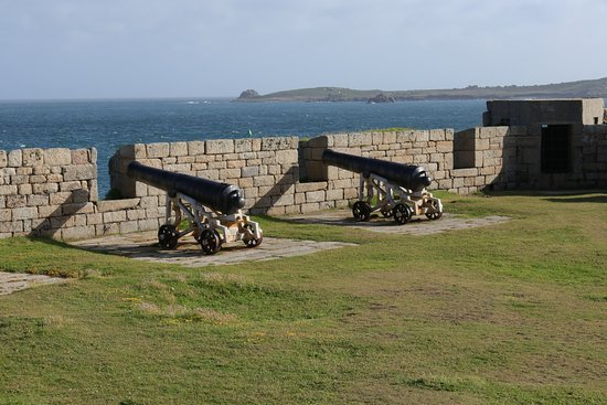 St Mary's, UK: Garrison Wall: mit Gugh/St. Agnes