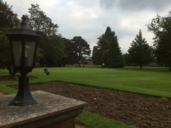 Aldwark, UK: View of golf course from terrace