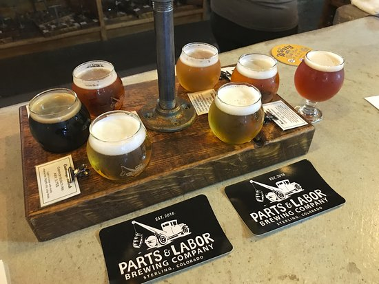 Sterling, CO: Taster Flight at Parts & Labor Brewing