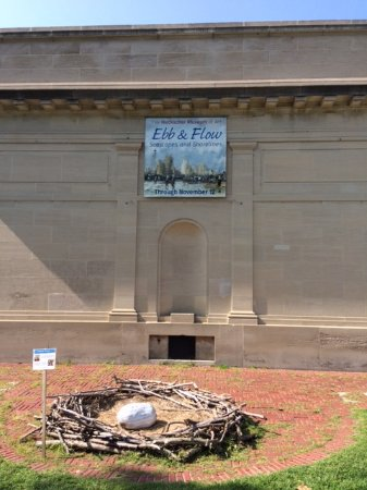 The Heckscher Museum of Art: Outdoor nest & egg exhibit offered as an environmental lesson.