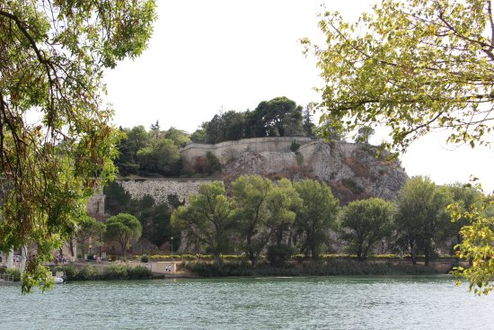 Ile de la Barthelasse : Vue sur Avignon