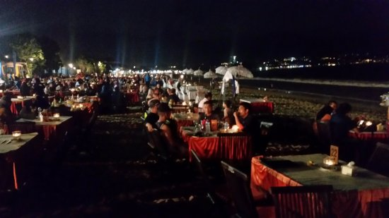 Romantic Dinner in Jimbaran Bay: Tables on the beach