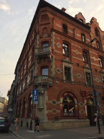 Red Brick Apartments: Corner view