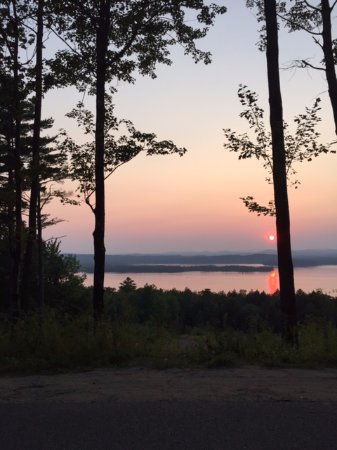 Wayne, ME: Sunset on Androscgoggin Lake