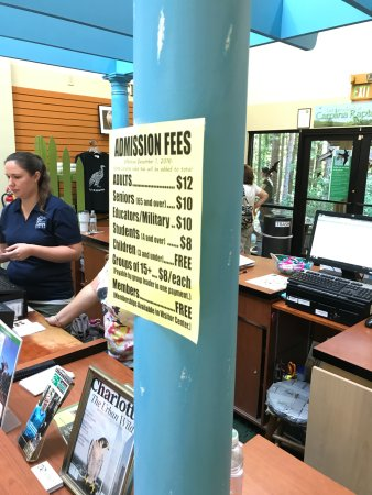 Carolina Raptor Center: Current Fees as of August 2017