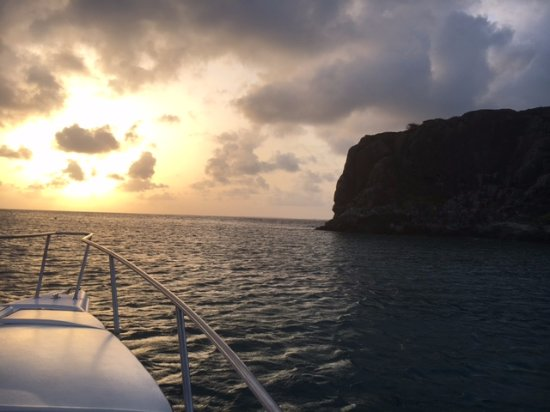 Paper Boat Charter: Sunset at Creole Rock, Grand Case, St. Maarten