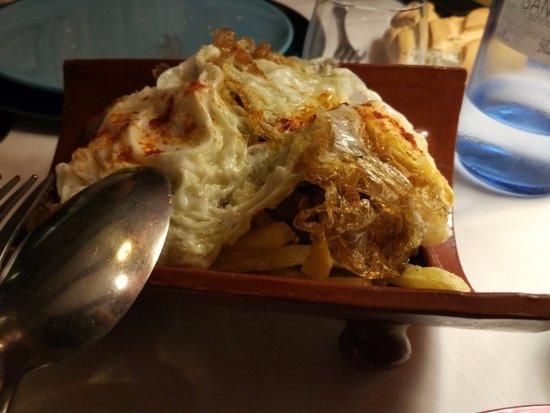 Monzon de Campos, Spain: Teja de tempura de verduras