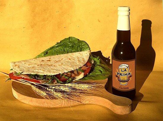 GianGusto Piadineria: Piada e birra maremmana.