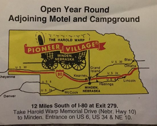 Map Picture of Pioneer Village Minden TripAdvisor