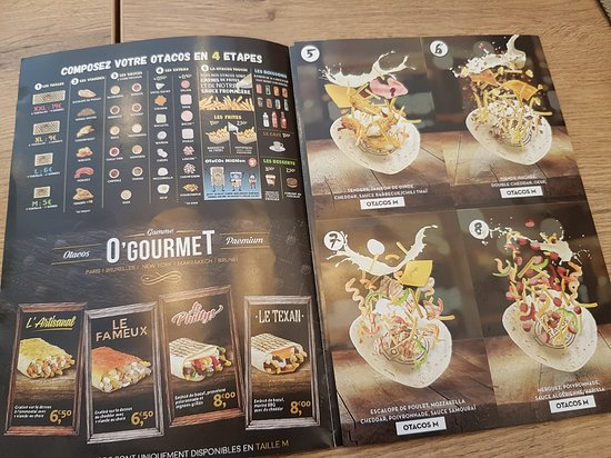 Otacos Carte 2019.20170822 130008 Large Jpg Picture Of O Tacos Le Mans