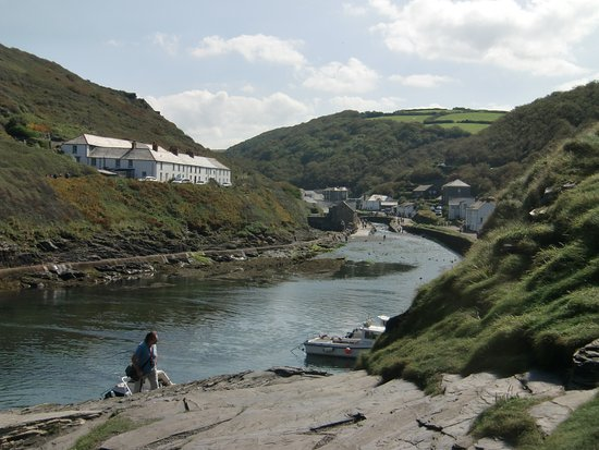 View from the harbour into Boscastle