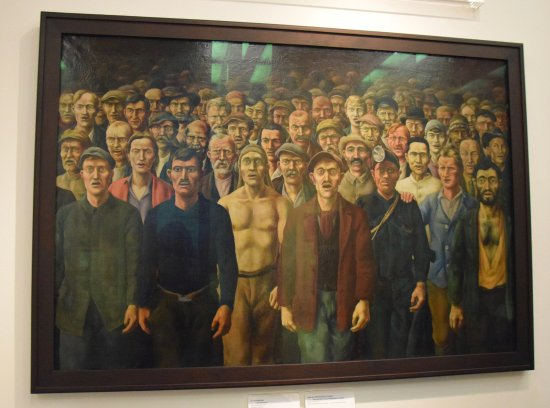 Museo Histórico Alemán: Workers sing the International in this painting by Otto Griebel at the German History Museum, Be