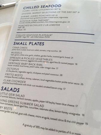 The Menu Picture Of Bay Kitchen Bar East Hampton