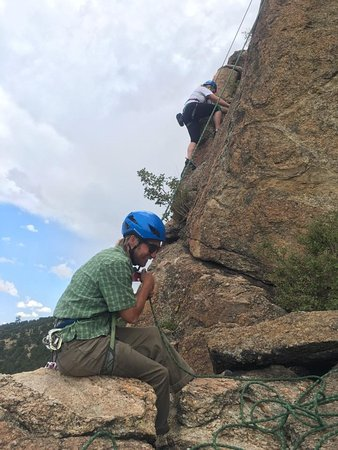 Buena Vista, CO: Having a blast rock climbing!