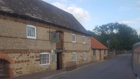 Northamptonshire, UK: View from the road of our converted grade 2 listed water mill