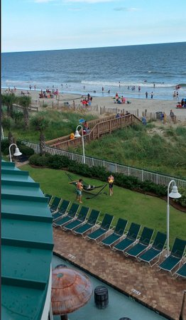 Hampton Inn & Suites Myrtle Beach/Oceanfront: View from third floor balcony room in south tower