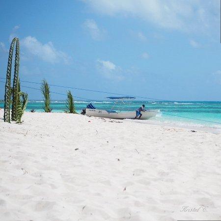 Bayahibe, République dominicaine : Pêcheur. Isla Saona.